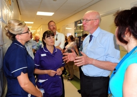 Hospital staff huddle with lord during visit   Western Sussex Hospitals NHS Foundation Trust   Scoop.it