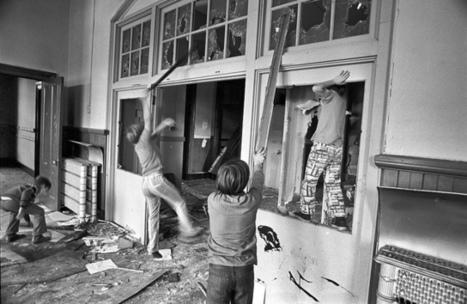 Local kids trash school during its demolition, South Boston (1971) | Camera Arts | Scoop.it