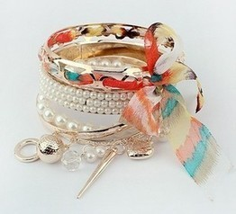 Aliexpress.com : Buy Stylish Trendy Three Layers Bracelets and Bangles New Arrival Bangles with Beads Bracelet from Reliable trendy bangles suppliers on  Miss Lyra | Hello Kitty | Scoop.it