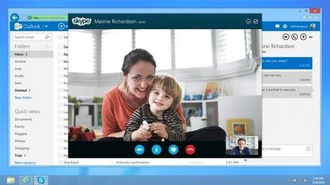 Comment réaliser des appels vidéos Skype depuis Outlook.com | Tutoriel | Time to Learn | Scoop.it