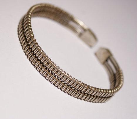 Silver Cuff Bracelet-mens bracelet-cuff bracelet man-wire wrapped bracelet-cuff bracelet-mens jewelry-wire wrapped jewelry handmade | Beyhan Akman | Scoop.it