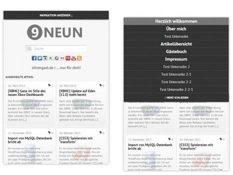 [CSS3] Ein responsives Flyout-Menü | olivergast.de | responsive design | Scoop.it