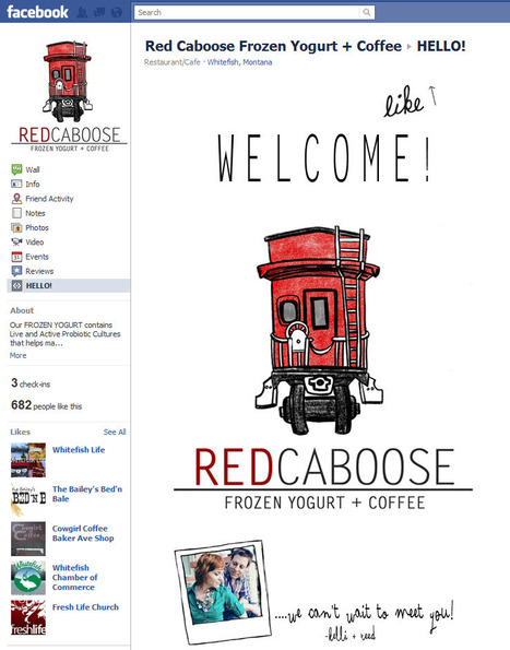 10 Favorite Montana Business Facebook Pages - Red Caboose Frozen Yogurt + Coffee | Business | Montana Business | Best of Social Media Tools, Tips & Resources | Scoop.it