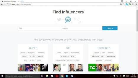Klear pour identifier les influenceurs de votre secteur | Outils Community Manager | Scoop.it