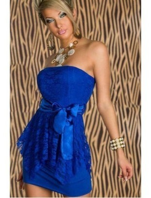 [30.38] Pretty Polyester Blue Sexy Style Strapless Sheath Sleeveless Mini Party Dresses - Sweetiee.com | Fashion and Moda | Scoop.it