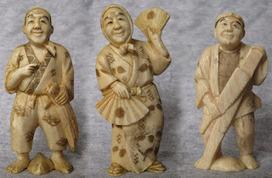 Okimono en marfil, pequeñas piezas de mediados del siglo XX | Arte Hoy | Scoop.it