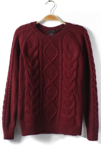 Retro Braided Sweater - OASAP.com | Sweaters and Cardigans | Scoop.it