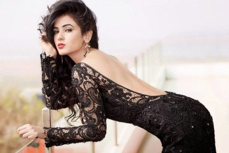 Sonal Chauhan Pictures in a Black Long Netted Gown with Open back, Actress, Bollywood, Western Dresses   CHICS & FASHION   Scoop.it