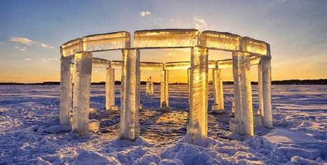 Five friends built an 'icehenge' on a frozen lake and it is gorgeous | Creative Feeds | Scoop.it