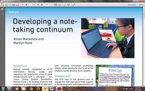 Developing a Note-Taking Continuum | Inquiry Learning | Scoop.it