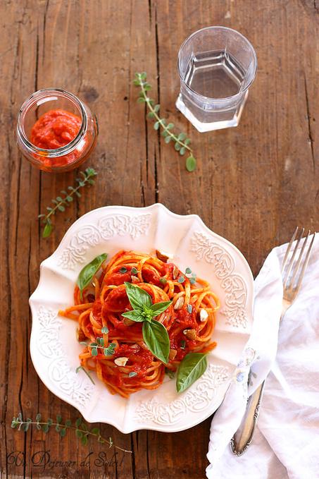 Linguine à la sauce de poivrons   Chef, à table !   Scoop.it