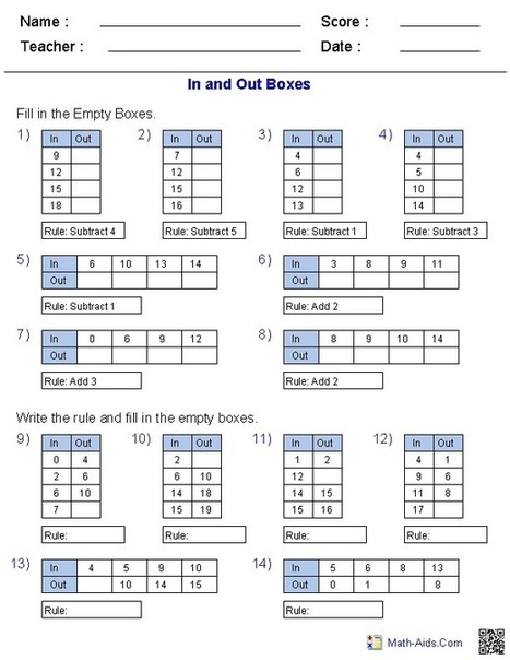 Innovative Classroom Worksheets ~ Math worksheets dynamically created work