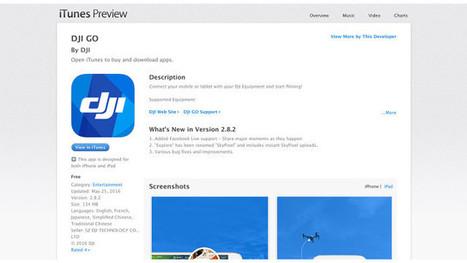 Update to DJI GO App Brings Facebook Streaming Support | cinema5D | Drone (UAV) News | Scoop.it