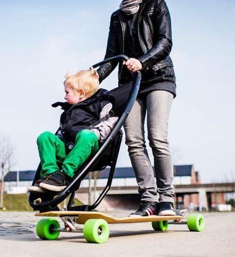 Longboard Stroller – La Poussette des skateboardeurs | Ufunk.net | Sport Passion | Scoop.it