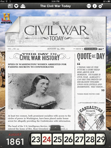 iPad Apps for Education: The Civil War Today | TeacherCast Apps for Education | Scoop.it