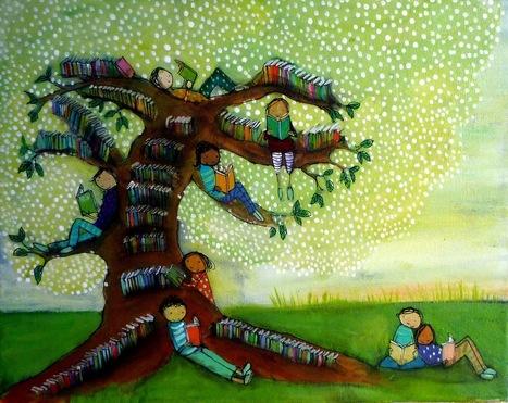 Pinzellades al món: Un arbre ple de llibres / Un árbol lleno de libros / A tree full of books | CONTES, FAULES i altres històries | Scoop.it