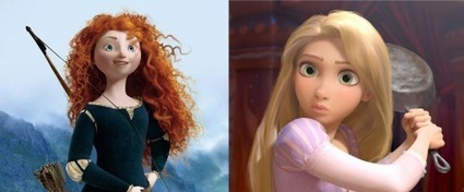 A Comparison of Merida and Rapunzel - The Animation Anomaly   Brave - Changing Faces of Disney Princesses   Scoop.it
