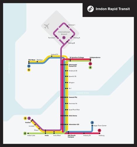 Typographic transit maps — Michael Tyznik | Map@Print | Scoop.it