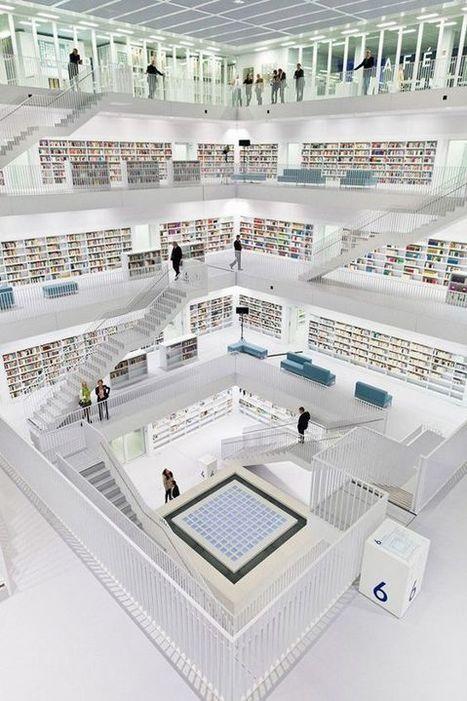 Tour du monde des bibliothèques : La nouvelle bibliothèque de Stuttgart, Allemagne - Les actus littéraires | livres allemands -  littérature allemande - livres sur l'Allemagne | Scoop.it