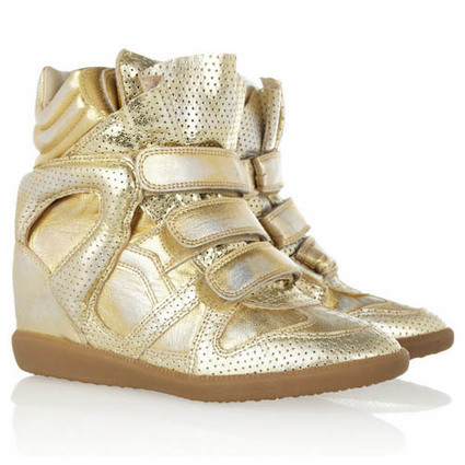 Upere Wedge Sneakers Suede Gold - $191.98 | UPERE Wedge Sneakers Show | Scoop.it