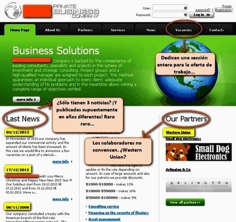 Cómo identificar ofertas de empleo falsas por internet | ElBuscónDelEmpleo | Scoop.it