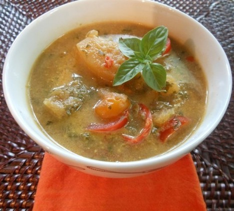 Vegan Thai Coconut Milk and Vegetable Soup | The Blooming Platter of Vegan Recipes | My Vegan recipes | Scoop.it
