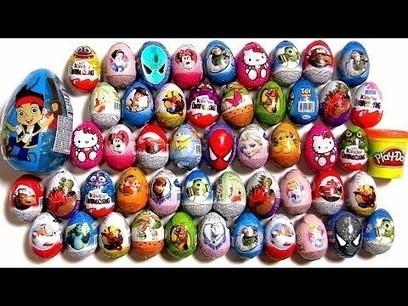 50 Kinder Surprise Eggs!! Disney Frozen Cars2 Barbie Monsters Minnie Jake Spiderman Huevos Play-Doh | Marketing | Scoop.it