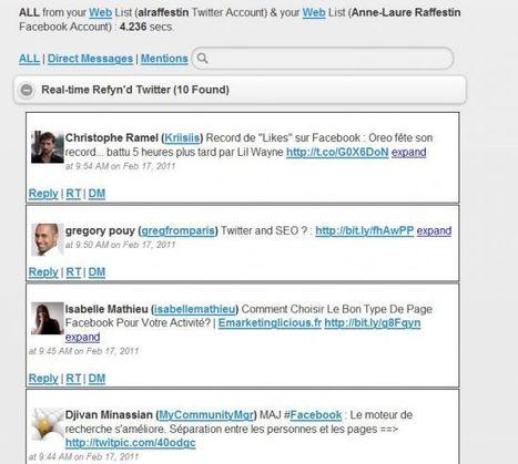 Refynr : un outil pour filtrer Twitter et Facebook - Blog du @moderateur | e-réputation, outils de veille et monitoring | Scoop.it
