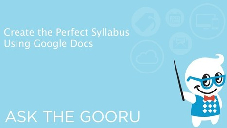 How To Create The Perfect Syllabus In Google Docs | Aprendiendo a Distancia | Scoop.it