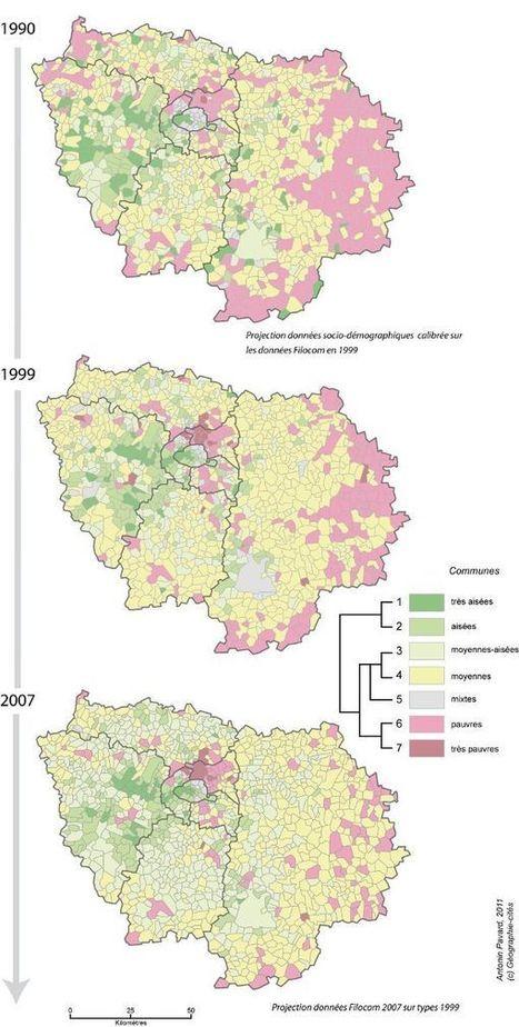 Les inégalités socio-spatiales progressent-elles en Île-de-France ? - Métropolitiques | géographie, histoire, sciences sociales, développement durable | Scoop.it