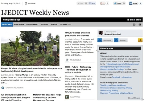 Aug 30 - IJEDICT Weekly News is out | Studying Teaching and Learning | Scoop.it