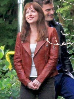 Fifty Shades of Grey Film Jacket | Anastasia Steele Brown Leather Jacket | Women's Jackets | Scoop.it