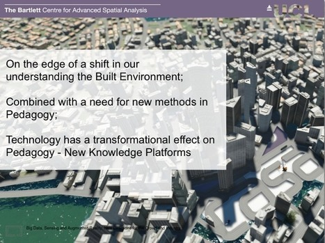 Pedagogy meets Big Data and BIM - Big Data, Sensing and Augmented Reality: Paper and Key Note Presentation | Numérique | Scoop.it