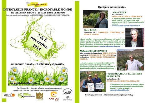 Première conférence internationale des Incroyables Comestibles à Cergy | Innovation sociale | Scoop.it