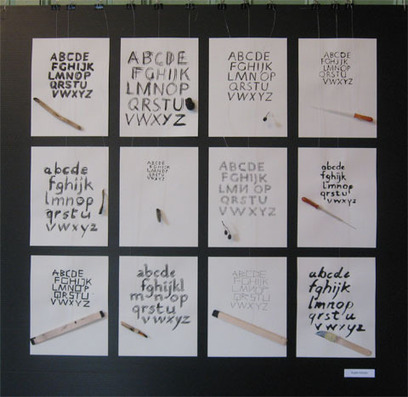 Calligraphy workshop with Denise Lach in Perce | freehand illustration and graphic design | Scoop.it