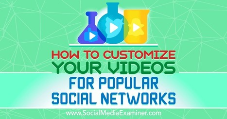 How to Customize Your Videos for Popular Social Networks : Social Media Examiner | SEO | Scoop.it