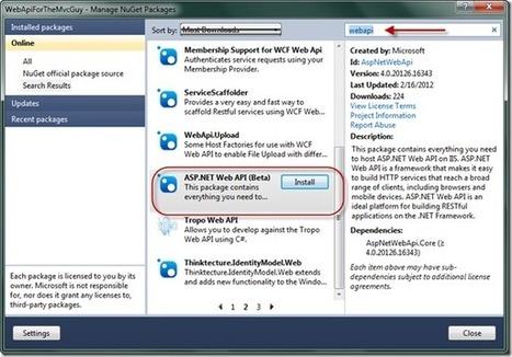 WebAPI for the MVC Guy | AspNet MVC | Scoop.it