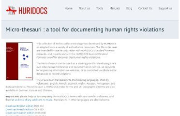 Micro-thesauri : a tool for documenting human rights violations | Translator | Scoop.it