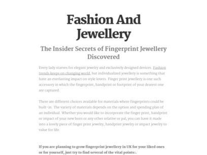 The Insider Secrets of Fingerprint Jewellery Discovered | Fashionable Fingerprint Jewellery | Scoop.it