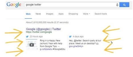 Google & Twitter partnership takes flight as Tweets appear in search results | Social Media & Content Marketing | Scoop.it