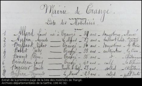 Etablir la liste des hommes d'une commun mobilisés en août 1914. | GenealoNet | Scoop.it