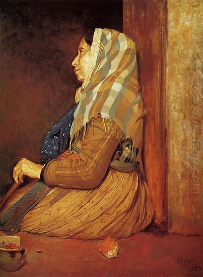 Oil painting reproduction: Edgar Degas a roman beggar woman 1857 - Artisoo.com | Creative Oil on Canvas | Scoop.it
