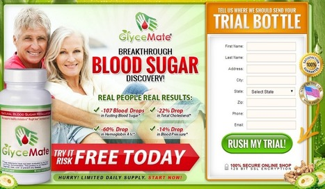 Glycemate Review - GET RISK FREE TRIAL HURRY!!! | PERFECT  Glycemate | Scoop.it