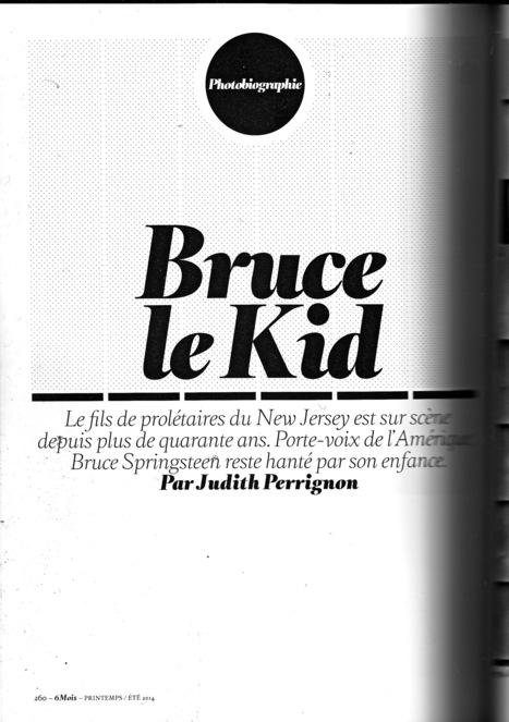 Un beau portfolio sur Bruce Springsteen dans la revue « 6 Mois » - le Blog Bruce Springsteen | Bruce Springsteen | Scoop.it