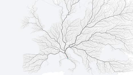 El mapa más bonito que demuestra que todos los caminos conducen a Roma (matemáticamente) | Nuevas Geografías | Scoop.it