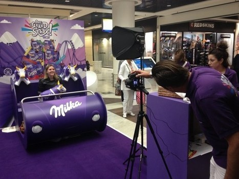 Osez le Grand Snax avec Milka ! | streetmarketing | Scoop.it