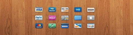 15 icones de carte de crédit pour vos projets E-commerce. | Graphiste Webdesigner Bordeaux - Aurora Studio | From The Blog | Scoop.it
