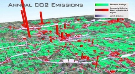The Hestia Project Maps Carbon Emissions of US Cities Down to Street Level | green infographics | Scoop.it