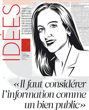 Julia Cagé: «Il faut considérer l'information comme un bien public» | DocPresseESJ | Scoop.it