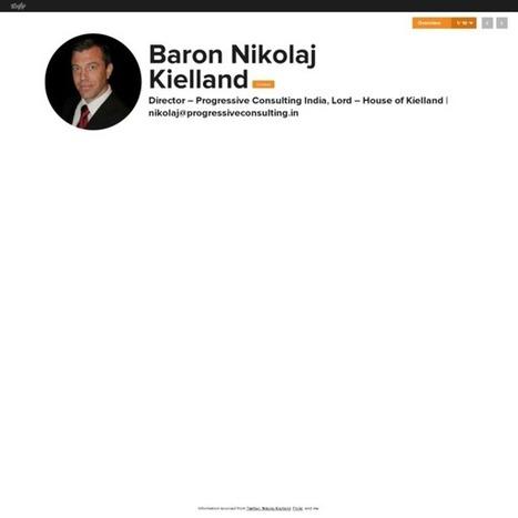Baron Nikolaj Kielland's Vizify Bio | Baron Nikolaj Kielland - Director of Progressive Consulting India | Scoop.it